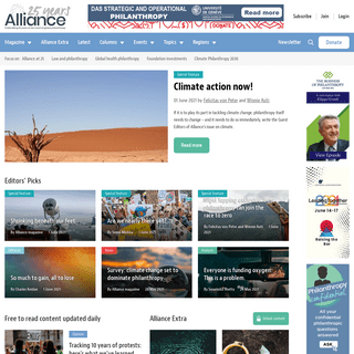 Alliance magazine - The only philanthropy magazine with a global focus