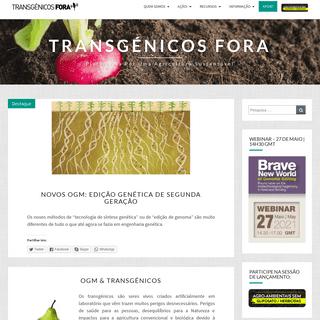 Transgénicos Fora – plataforma por uma agricultura sustentável