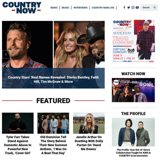 Country Now - Today`s Top Country Artists, Hottest Stars & Newcomers