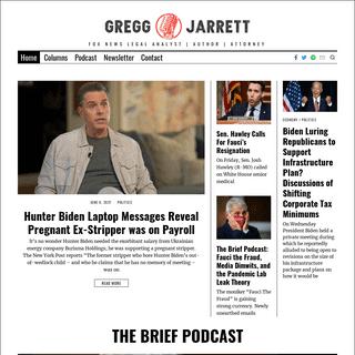 Gregg Jarrett - Fox News Legal Analyst - Author - Attorney
