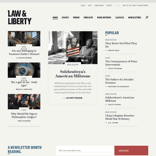 Law & Liberty, part of the Liberty Fund Network