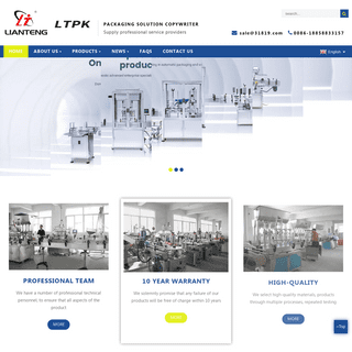 Filling Machine, Labeling Machine, Capping Machine - Lianteng