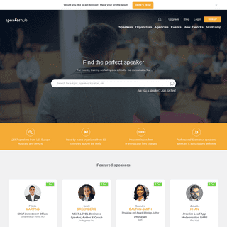 SpeakerHub - Connecting public speakers, trainers and moderators with event organizers