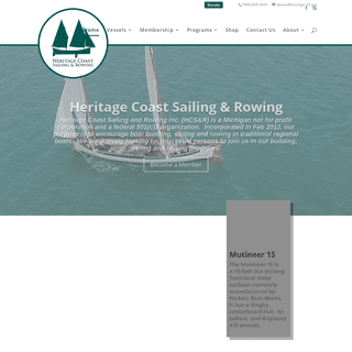 Heritage-23 - Promoting Community Boat Building, Rowing & Sailing on the Heritage Coast of Michigan
