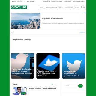 Okay.ng — Read Latest News, Breaking Stories & Headlines