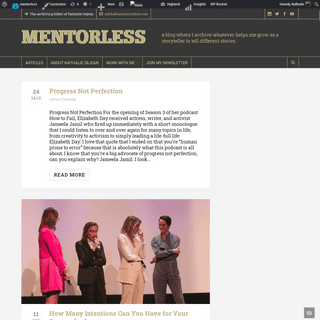 mentorless - The archiving folder of Nathalie Sejean