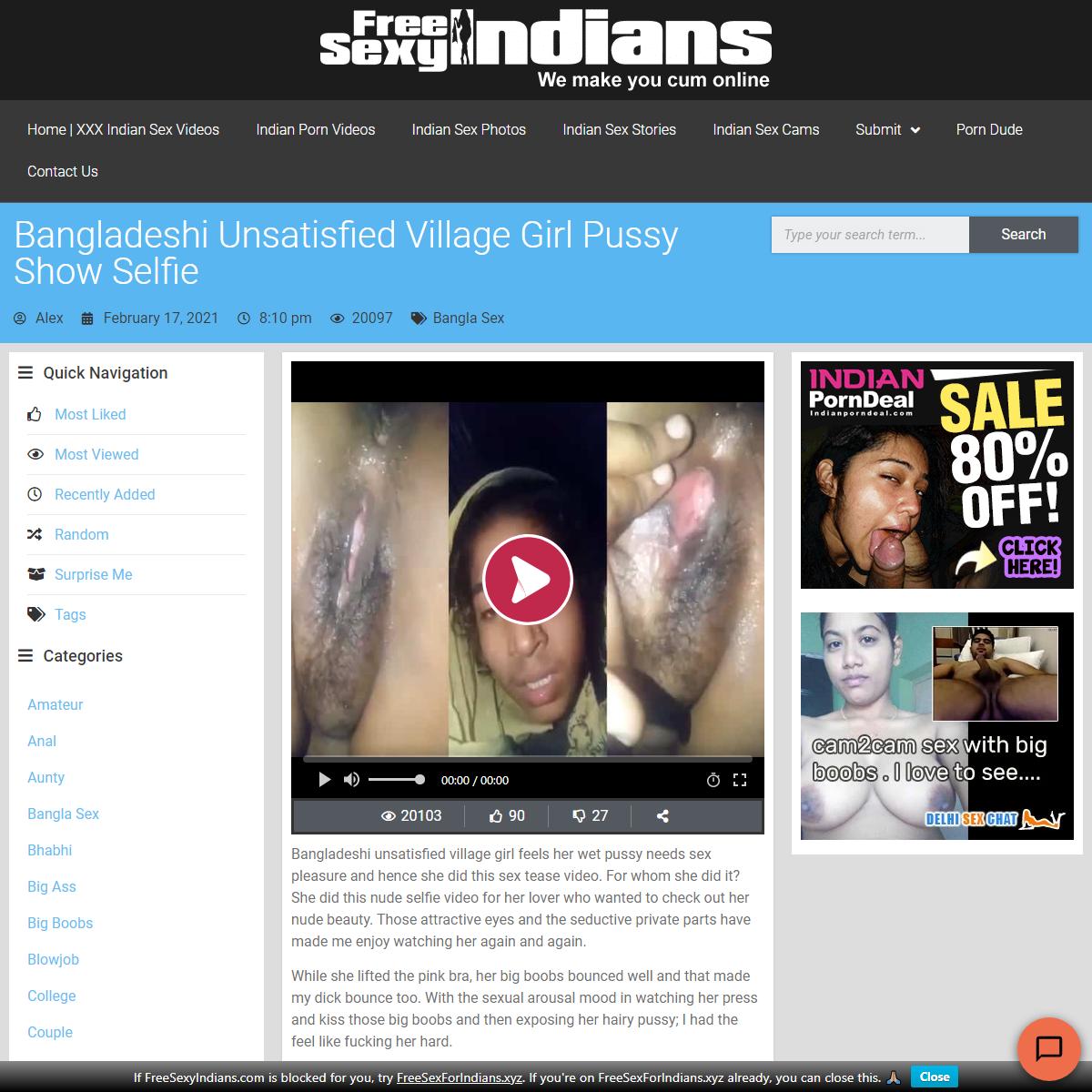 Bangladeshi unsatisfied village girl pussy show selfie - FSI Blog