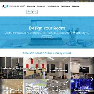 Acoustic Solutions - Acoustics Panels - Studio Room Kits - Primacoustics