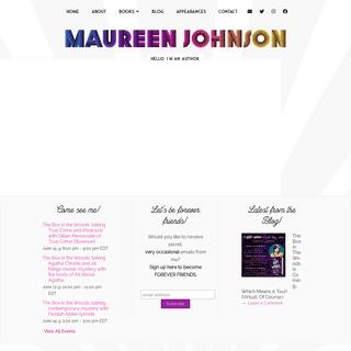 Maureen Johnson - New York Times bestselling author of YA Novels