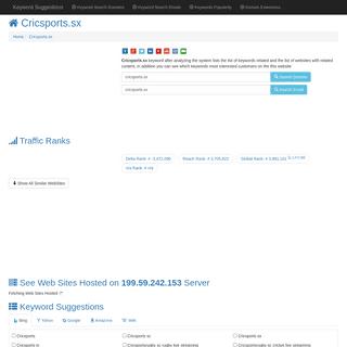 ™ -Cricsports.sx- Keyword Found Websites Listing - Keyword Suggestions