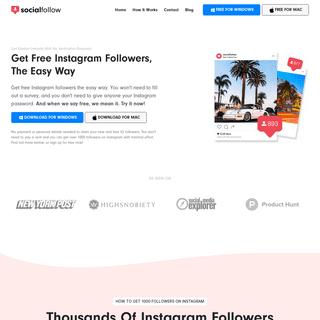 Free Instagram Followers - No Survey & 100- Free Forever - Socialfollow®