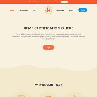 Hemp Certification is Here - US Hemp Authority