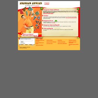 Anagram Genius - fun anagrams and anagram software