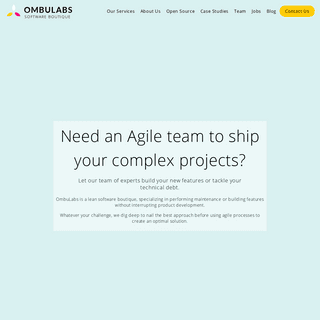 OmbuLabs -- The Lean Software Boutique