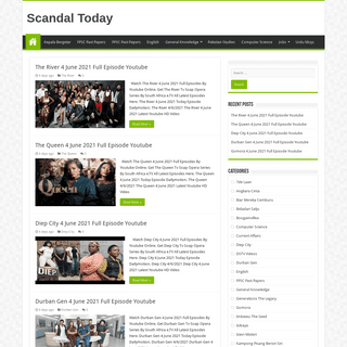 Scandal Today Full Episodes Watch Online Youtube ETV Soap