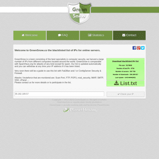 Welcome - GreenSnow -- BlockingList