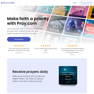Pray- The World`s #1 App for Daily Prayer and Biblical Audio Content