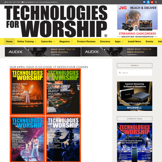 Technologies for Worship Magazine - House of Worship Technology Resources