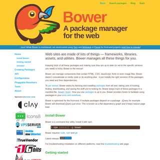 Bower — a package manager for the web