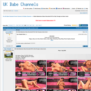 Oldish Babeshow Videos Recorded Off The Telly Through an Indoor Aerial