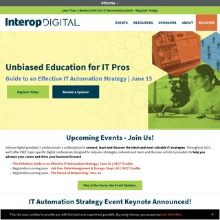 Interop - Unbiased Education for IT Pros