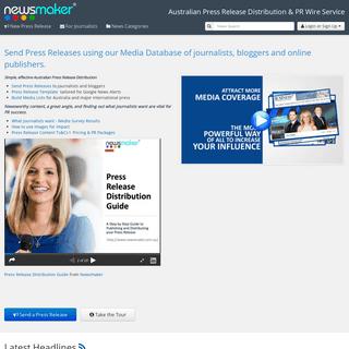 Press release distribution Australia using large media list - Newsmaker