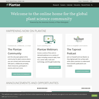 Plantae - The digital ecosystem for plant science