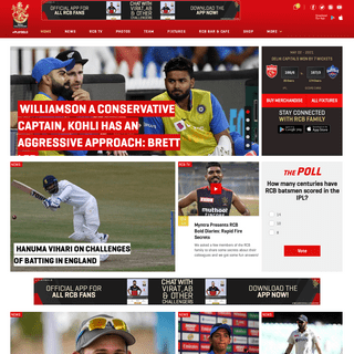 Official Website of Royal Challengers - RCB
