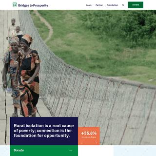 Bridges to Prosperity- The global leader in rural infrastructure development