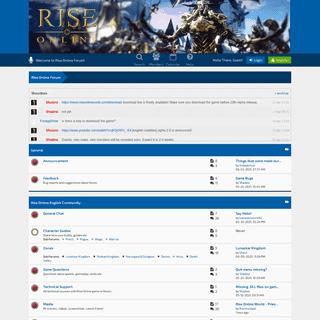Rise Online Forum