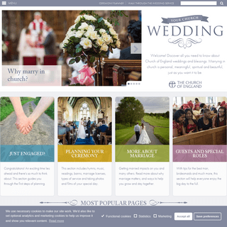 The Church of England - Weddings