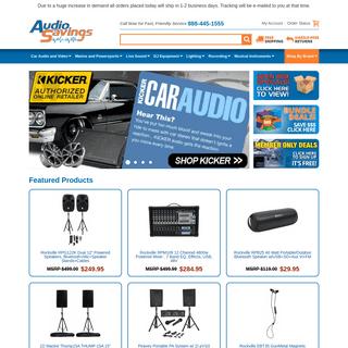 Top Audio Brands at Discount Prices - Audio Savings