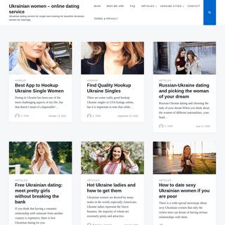 Ukrainian women - online dating service