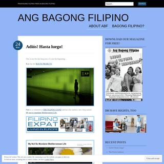 Ang Bagong Filipino - Pahayagang Filipino para sa Bagong Filipino