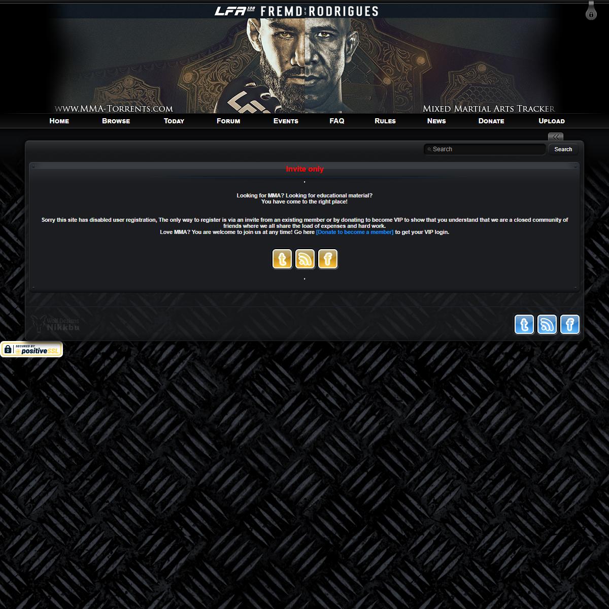 MMA-Torrents.com - Mixed Martial Arts Tracker - Invite only