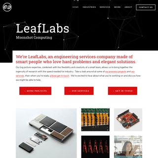 A complete backup of https://leaflabs.com