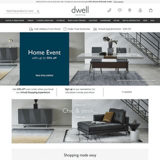Stylish, Modern Furniture, Including Designer Sofas And Contemporary Beds - dwell