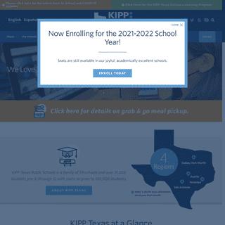 Texas Public Charter Schools - KIPP Texas Public Schools