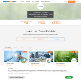 Crowdfundme, il portale italiano di crowdinvesting ed equity crowdfunding