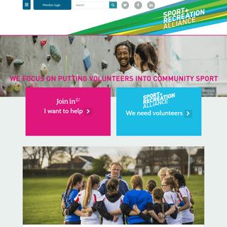 Volunteering - SRA - Sport and Recreation Alliance