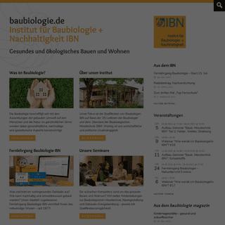 baubiologie.de - Institut für Baubiologie + Nachhaltigkeit