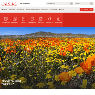 CalSTRS.com - How will you spend your future-