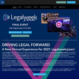 Legalweek(year) 2021