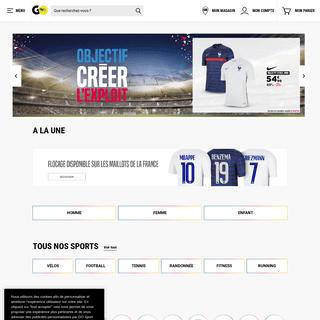 Achetez tous vos articles de sport et équipements sportifs chez GO Sport, votre magasin de sport