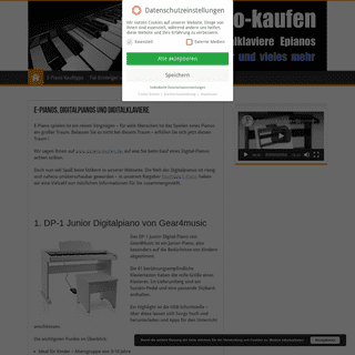 E-Piano kaufen - Test und Preisvergleiche für Digitalpianos