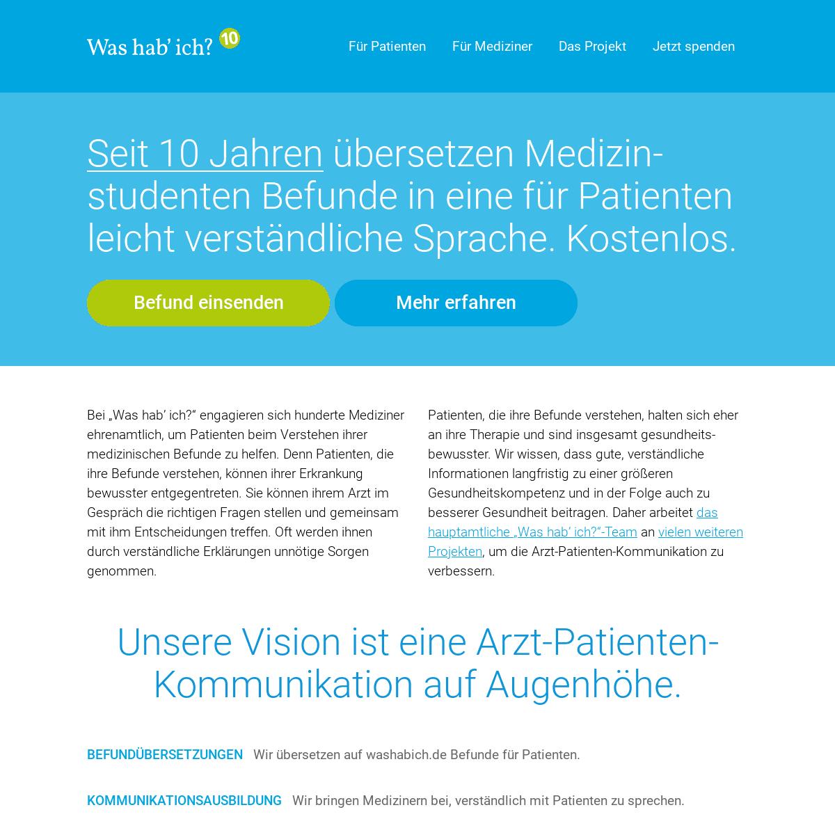 Medizinische Befunde kostenlos übersetzen - Was hab' ich-