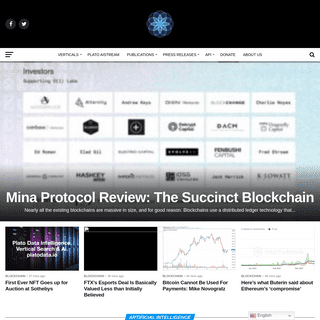 Plato- An Intelligent news platform curated for imparting data related to AI & Blockchain across the world.
