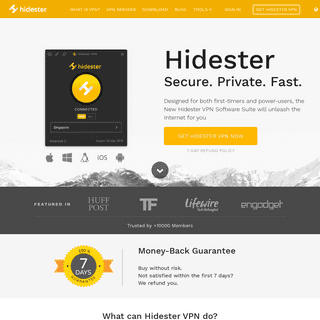 Hidester VPN - Best VPN for Secure, Private and Fast Access
