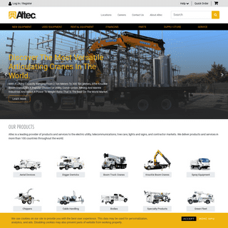 Altec Inc – Aerial, Digger Derrick, Crane, Tree Care and Utility Products