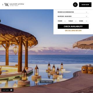 Luxury Los Cabos Resort - Waldorf Astoria Los Cabos Pedregal
